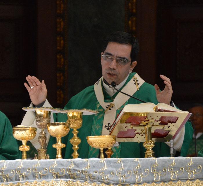 Hubo una misa de Acción de Gracias por la próxima beatificación de Monseñor Romero. /W. URBINA.