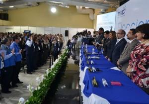 El TSE instaló ayer las mesas de escrutinio final en el Pabellón Centroamericano del Cifco. /ERNESTO MARTÍNEZ