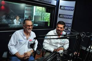 Adolfo Salume y Julio Valdivieso, en radio 102 nueve. /CORTESÍA