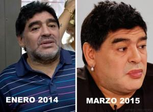 """Foto que circula en redes sociales sobre el cambio de """"El Pelusa"""". Al parecer, el tamaño de sus labios ha sido aumentado."""