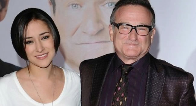 Robin Williams y su hija Zelda. EFE
