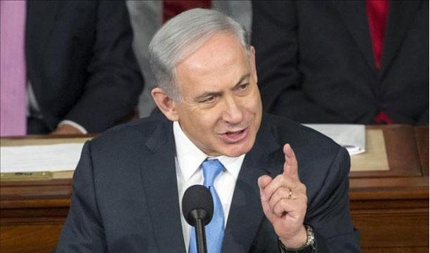 El primer ministro israelí, Benjamin Netanyahu, fue registrado este martes al pronunciar un discurso ante el Congreso, en el Capitolio de Washington DC (EE.UU.). EFE