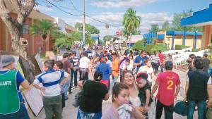 El Centro Internacional de Ferias y Convenciones, Cifco, fue destinado como bolsón de San Salvador./DEM