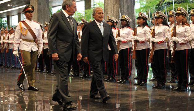 Presidente Sánchez Cerén termina visita a Cuba. /CAPRES
