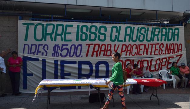 STISSS continuó ayer la huelga a pesar que este jueves por la tarde fue declarada ilegal por un juzgado. /JAIR MARTÍNEZ