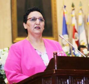 Lorena Peña, del FMLN, presidenta de la Asamblea hasta noviembre de 2016. /DEM