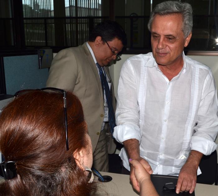 Marcos Rodríguez ayer en la sede de la Fiscalía. /Jair Martínez