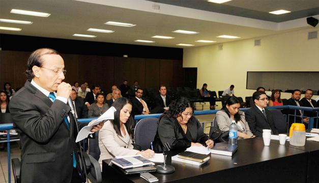 Ministro Martínez en la audiencia preliminar. /DEM