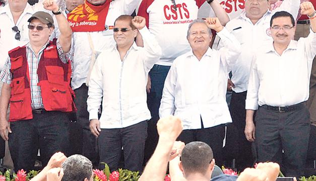 El presidente Sánchez Cerén, el pasado 1 de mayo. /DEM