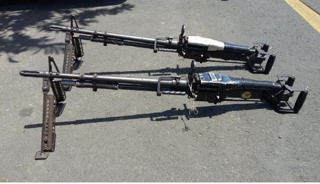 Las ametralladoras fueron hurtadas del Regimiento de Caballería en junio de 2014. /DEM