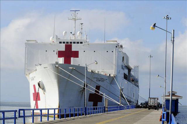 Buque USNS Comfort. / Facebook us navy