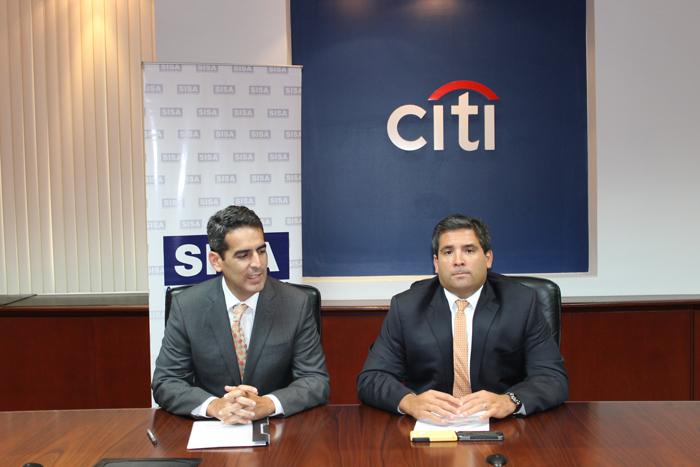 Rigoberto Conde, director de Bancaseguros Centroamérica; y José Roberto Lima, director de ventas y distribución de Citi El Salvador. /DEM