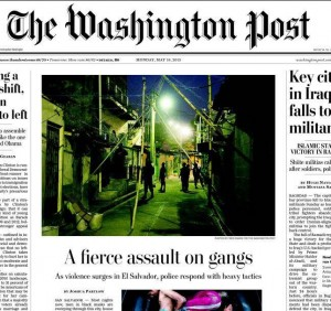 La portada de The Washington Post de ayer./DEM
