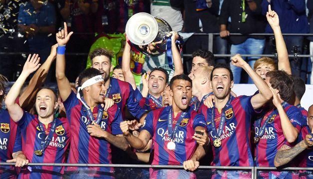 FOTO: Barcelona Campeón de la Liga de Campeones 2014-15 EFE / Diario El Mundo