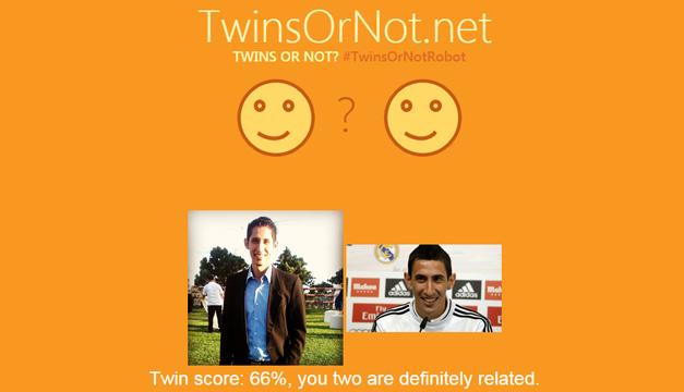 Nosotros comprobamos el parecido de uno de nuestros redactores, Juan Ventura, con el futbolista argentino Ángel Di María. ¡66 puntos de parecido!