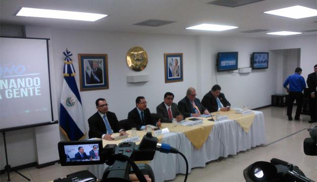 Miembros del Gabinete de Gobierno, Sánchez Cerén. DEM