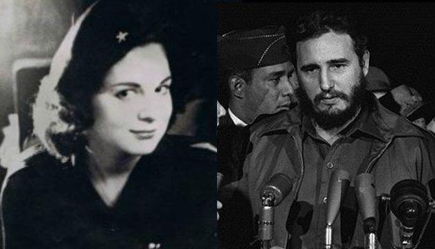 Marita Lorenz y Fidel Castro.