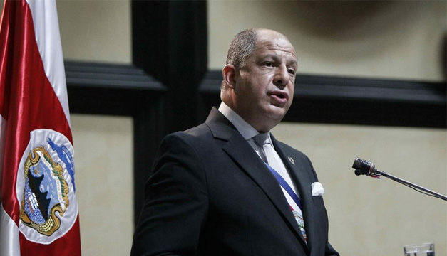 Presidente de Costa Rica, Luis Guillermo Solís.