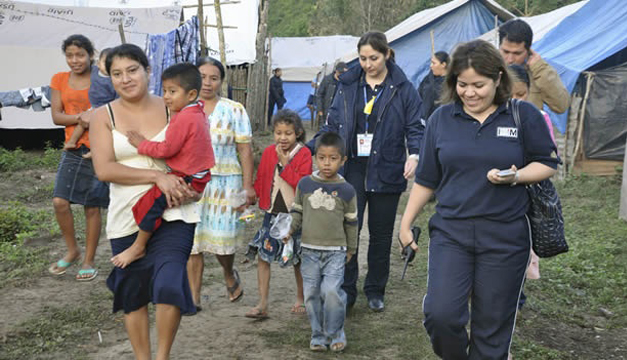 Refugiados que son llevados por autoridades de Migración/Tomada de internet