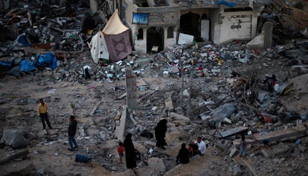 Ruinas dejadas por conflictos en Gaza/Tomada de internet