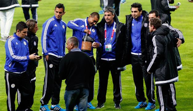 Entenamiento Selección Paraguay. EFE