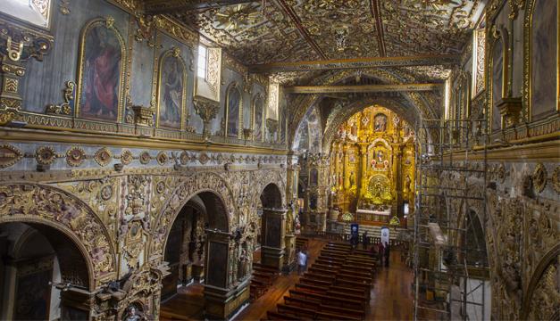 Templo quito en su interior/Foto: EFE