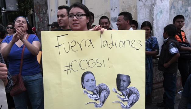 Guatemaltecos en apoyo a CICIG. Foto/EFE