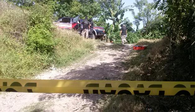 Escena del crimen en Apopa. Foto por: K.G/DEM