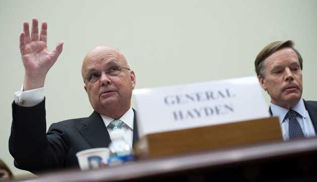 Exdirector de la CIA, Michael Hayden y el embajador Nicholas Burns, en reunión sobre acuerdo nuclear. Foto/EFE
