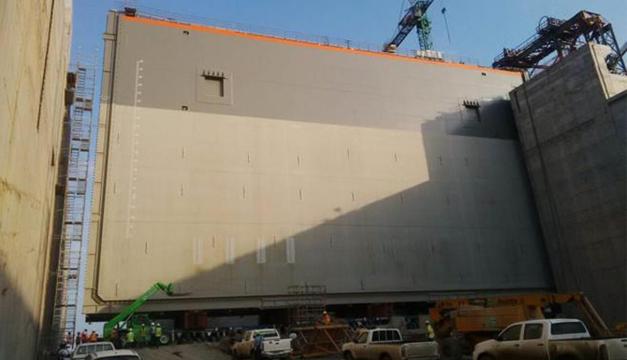 Obras de la ampliaciòn del canal de Panamà. Foto/EFE