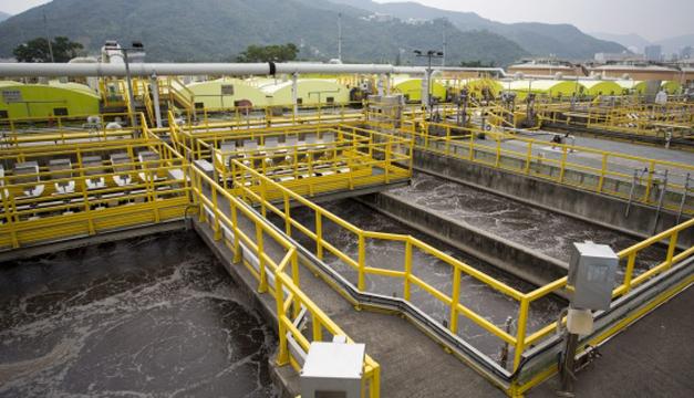 Planta de saneamiento de agua en Hong Kong. EFE