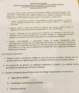 DeclaraciónPartidos