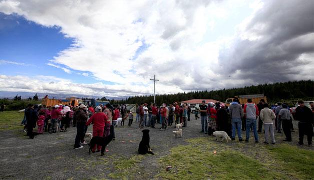 Habitantes evacuados. EFE