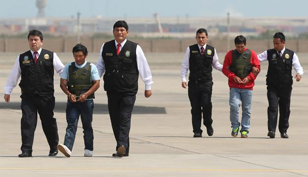 Alexander Alarcón Soto, y Dionisio Ramos, dos de sus principales cabecillas. Foto/EFE