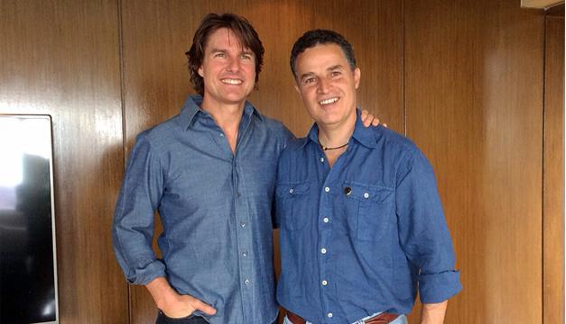 El alcalde de Medellín junto al actor Tom Cruise. EFE