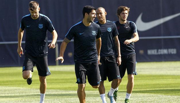 Barcelona-entreno-Luis-Suarez-Neymar-Pique