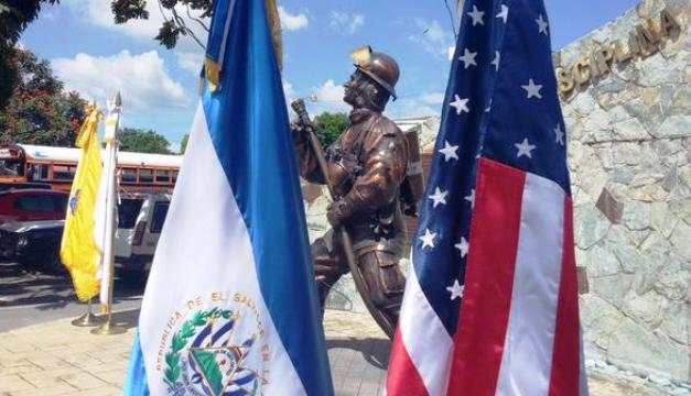 FOTO: Extraída de la cuenta de Bomberos de El Salvador en Twitter.