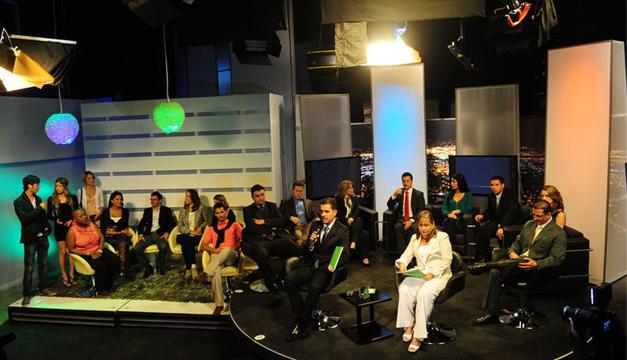 Parte del equipo del canal. Cortesía: La Nación