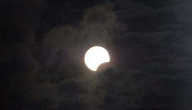 Eclipse solar parcial. Foto/EFE