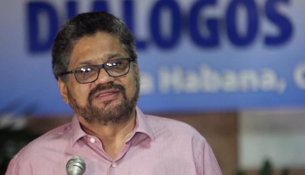 """Segundo jefe de las FARC y líder de los delegados de la guerrilla en las negociaciones de paz con el Gobierno colombiano, Luciano Marín, alias """"Iván Márquez. EFE"""