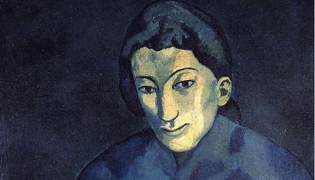 Mujer-con-chal-azul-Picasso