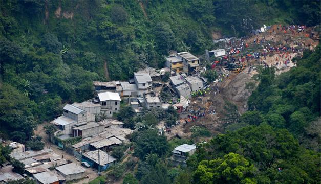 Foto del deslizamiento. EFE