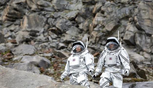 Recreación de una misión a Marte. Foto/EFE