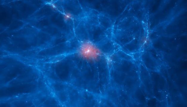 La imagen muestra la distribución del gas en red cósmica. Foto/EFE FUTURO.