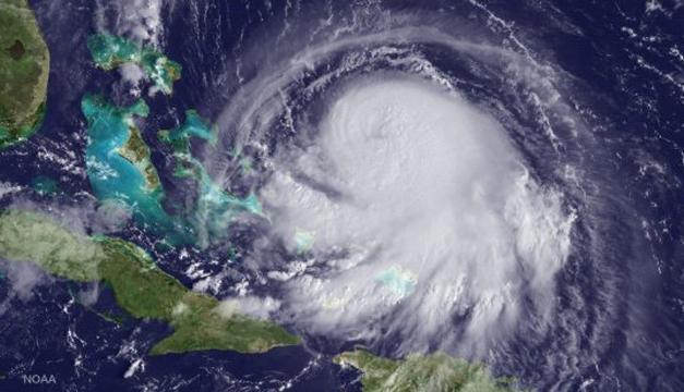 Imagen de satélite del huracán Joaquín a su paso por el Mar Caribe. EFE