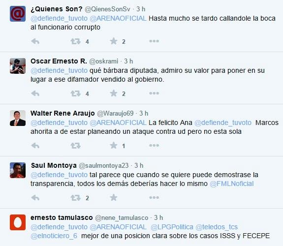 Reacciones Ana Vilma
