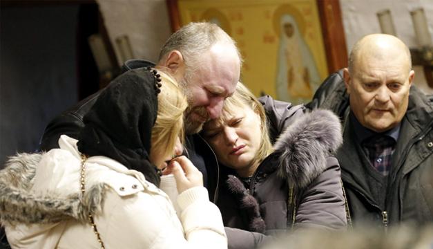 Familiares de víctimas. Foto/EFE