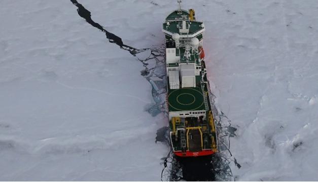 Rompehielos en el Ártico. EFE