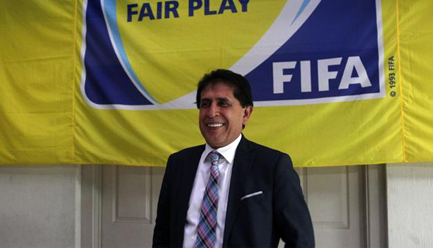 Brayan Jiménez Hernández, presidente suspendendio de la Federacion de futbol de Guatemala.EFE