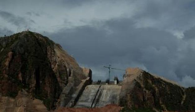 Construcción de la hidroeléctrica de El Quimbo. EFE
